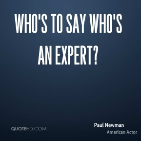 Who's to say who's an expert?