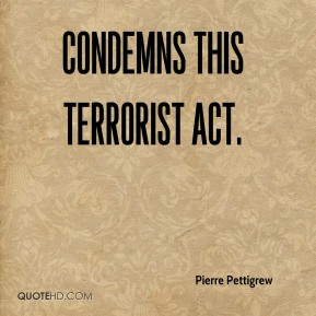 condemns this terrorist act.