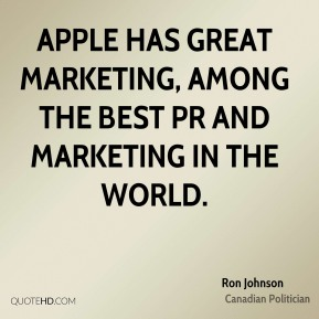 Apple has great marketing, among the best PR and marketing in the world.