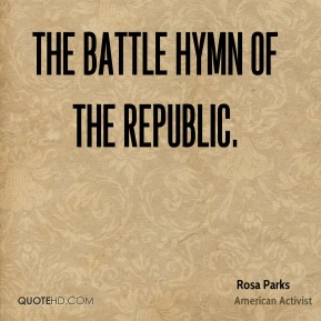 The Battle Hymn of the Republic.
