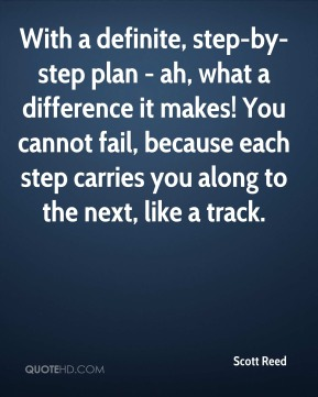 With a definite, step-by-step plan - ah, what a difference it makes! You cannot fail, because each step carries you along to the next, like a track….