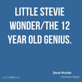 Little Stevie Wonder/The 12 Year Old Genius.