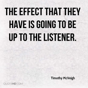 the effect that they have is going to be up to the listener.