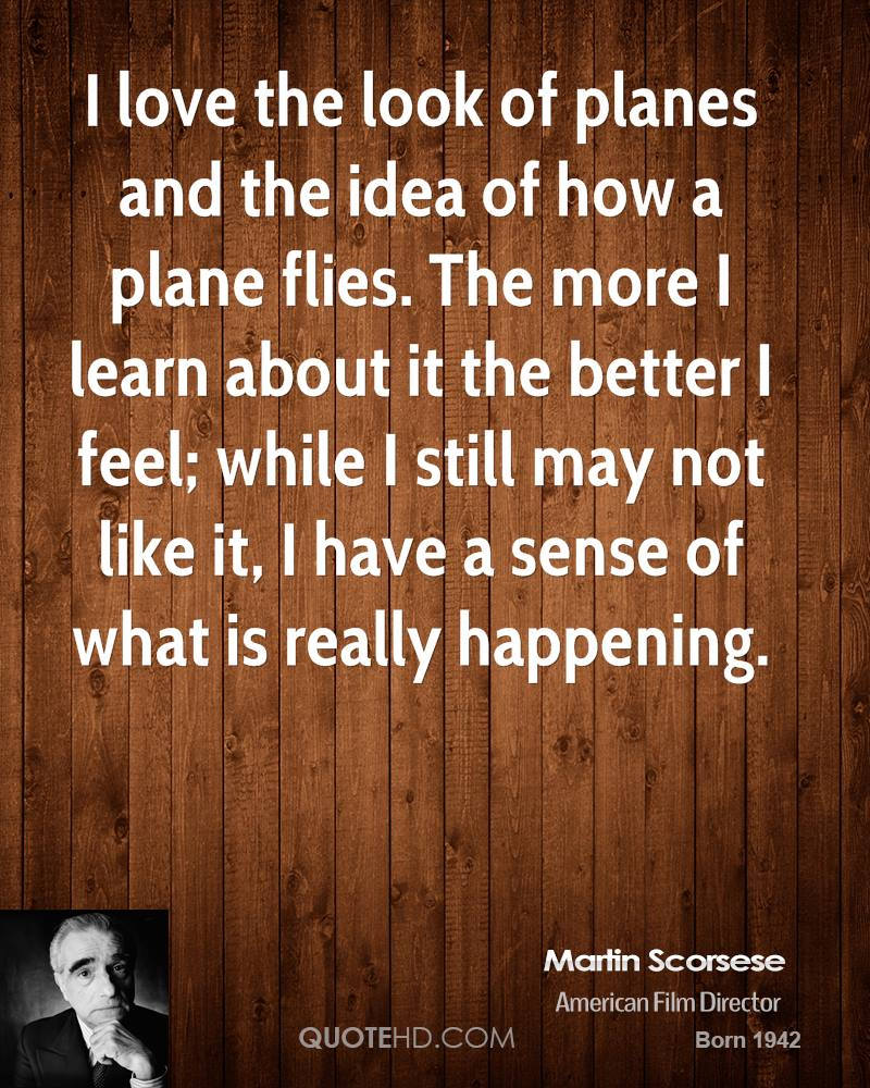 I love the look of planes and the idea of how a plane flies. The more I learn about it the better I feel; while I still may not like it, I have a sense of what is really happening.