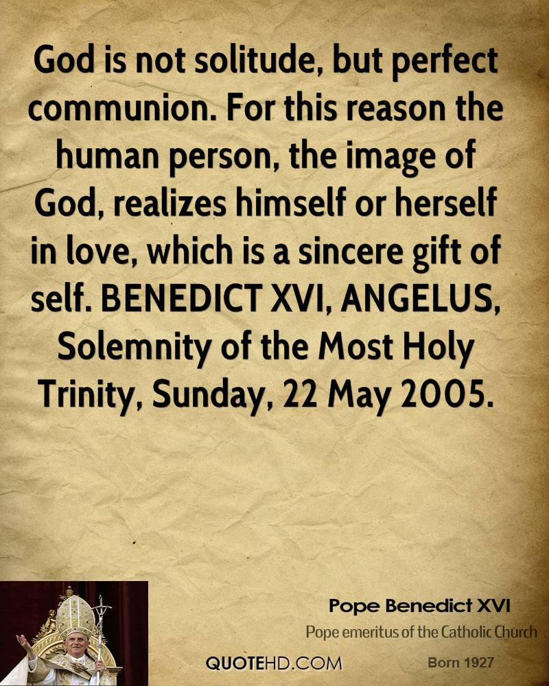 Quotes On Solitude Pope Benedict Xvi Quotes  Quotehd