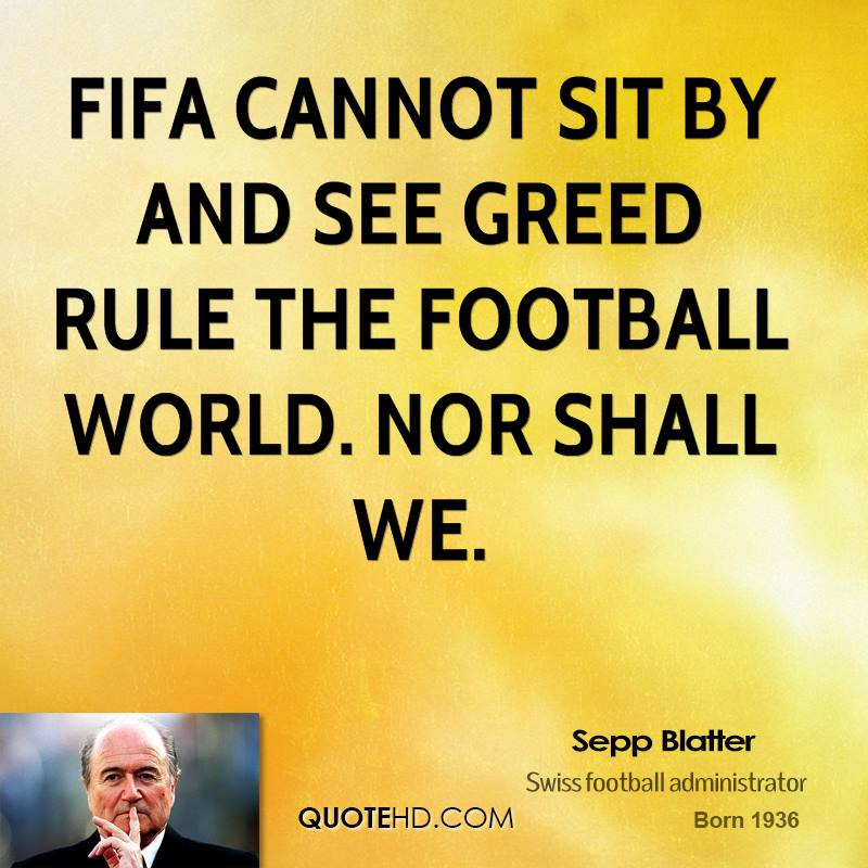 sepp blatter famous quotes