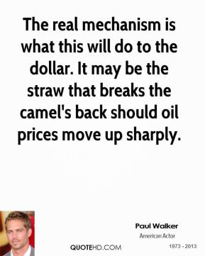 The real mechanism is what this will do to the dollar. It may be the straw that breaks the camel's back should oil prices move up sharply.