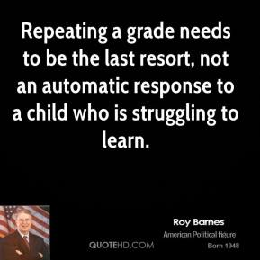 Repeating a grade needs to be the last resort, not an automatic response to a child who is struggling to learn.