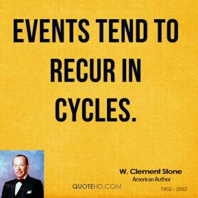 Events tend to recur in cycles.