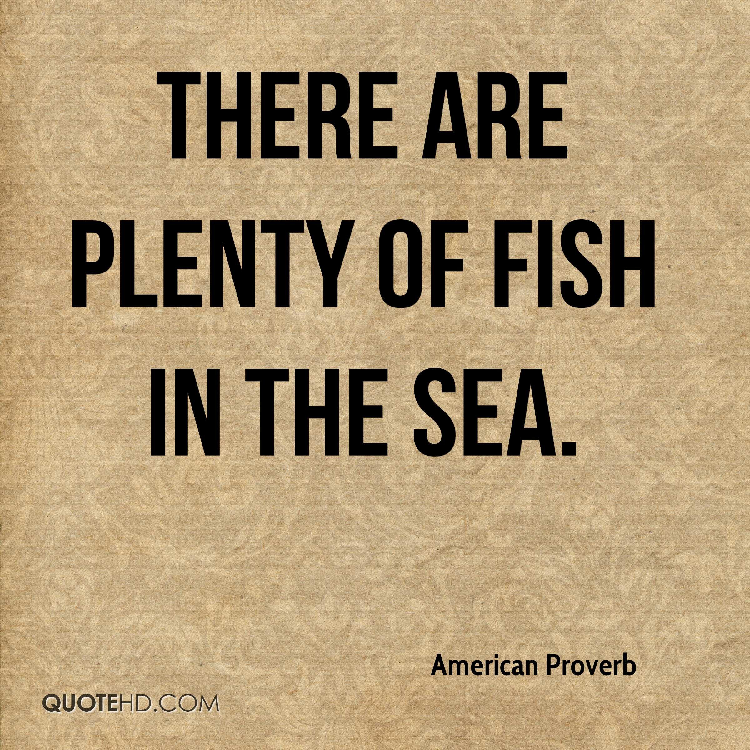 American proverb quotes quotehd for Plenty of fish in the sea