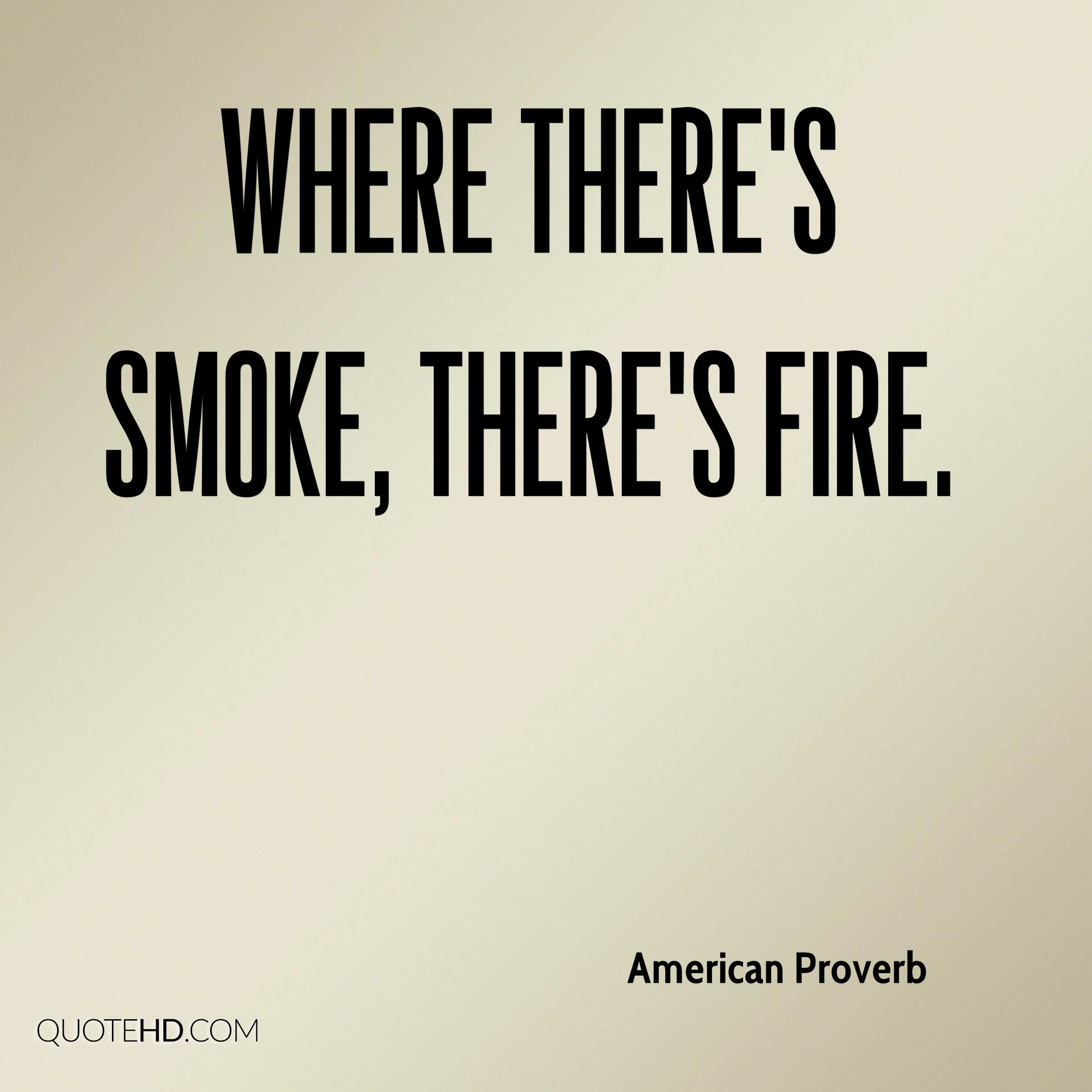 essay on there is no smoke without fire There's no smoke without fire: does the context of earnings management contain information about future stock returns.