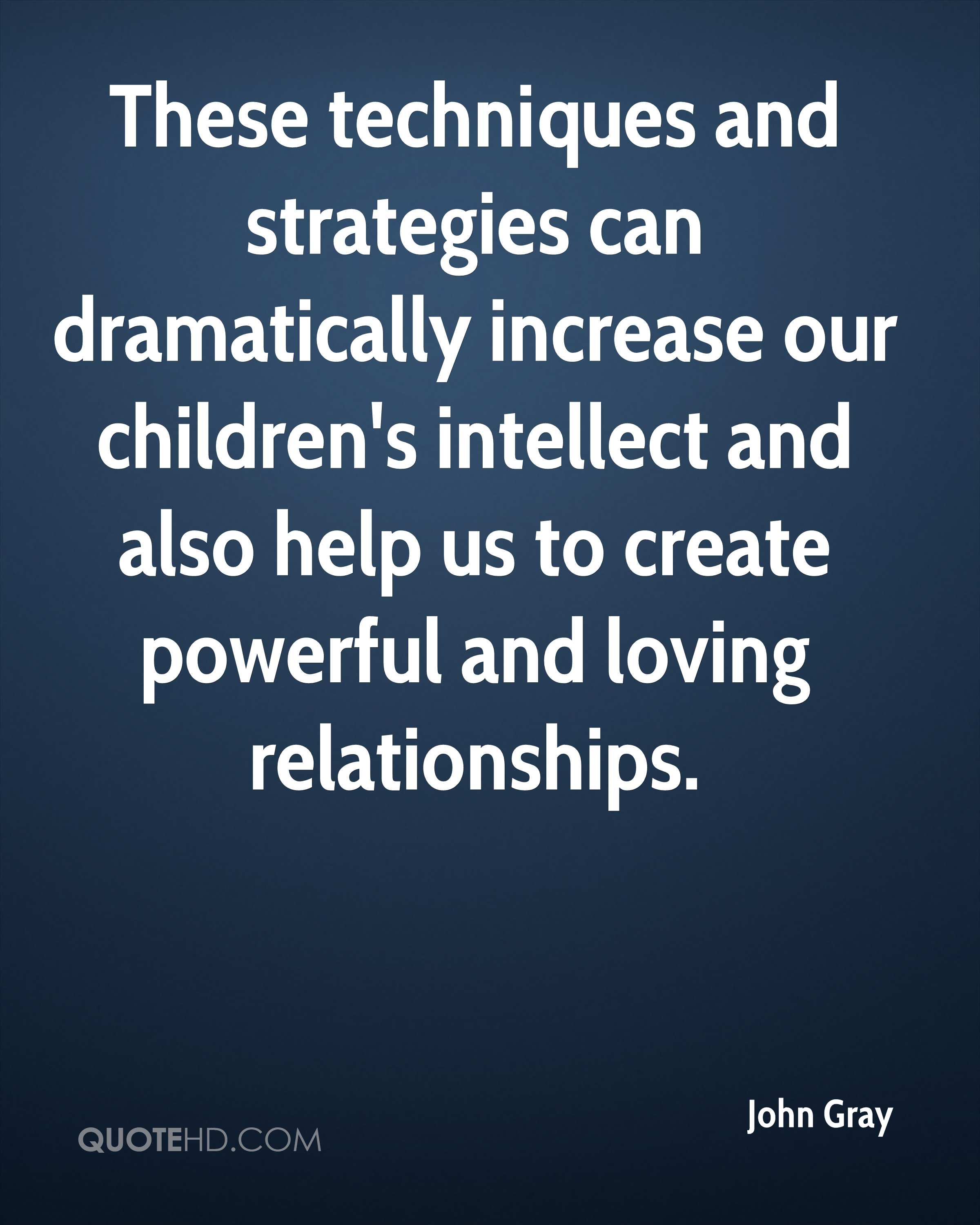These techniques and strategies can dramatically increase our children's intellect and also help us to create powerful and loving relationships.