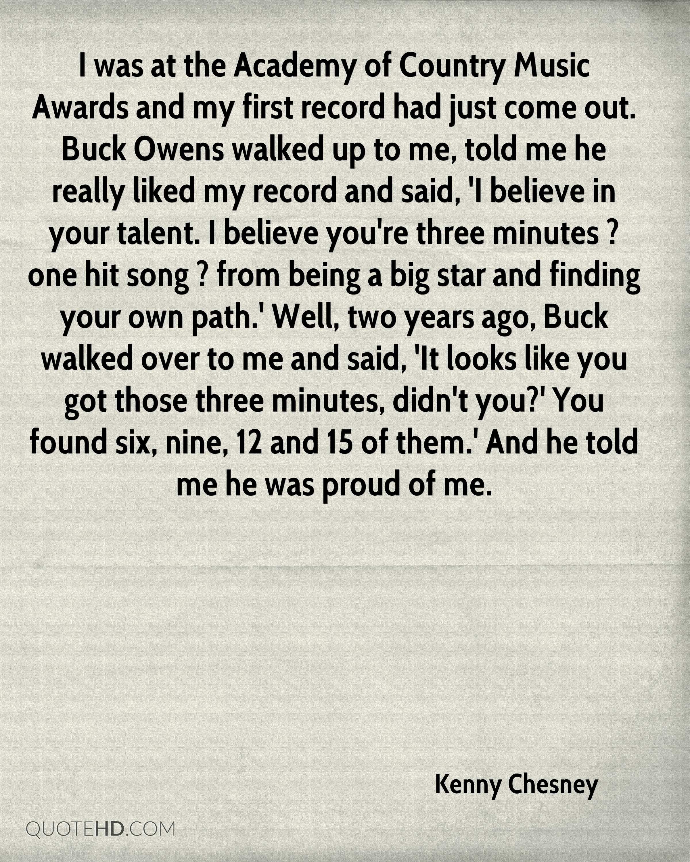 Kenny chesney quotes quotehd for Academy of country music award for video of the year