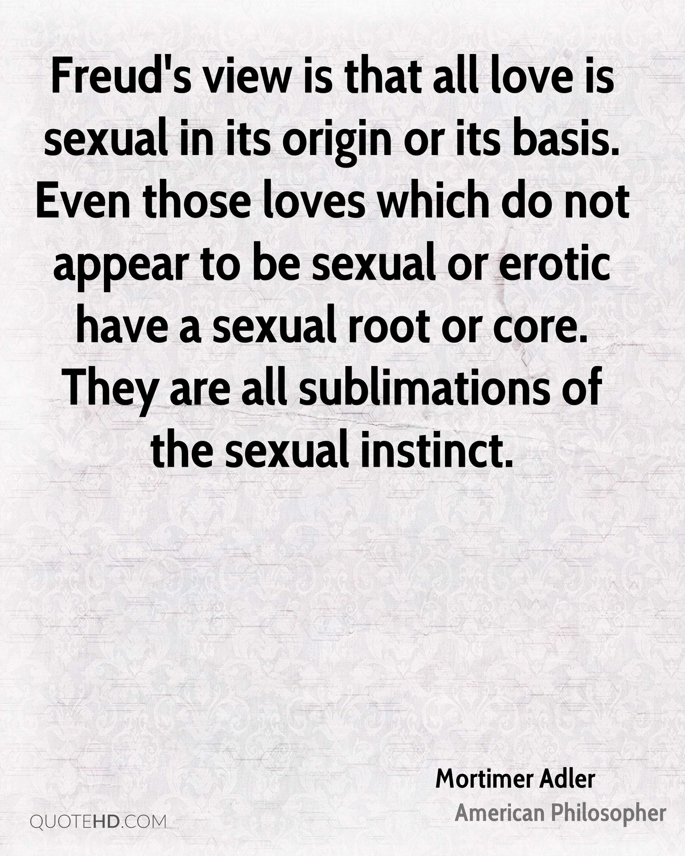 Freud sexual instinct