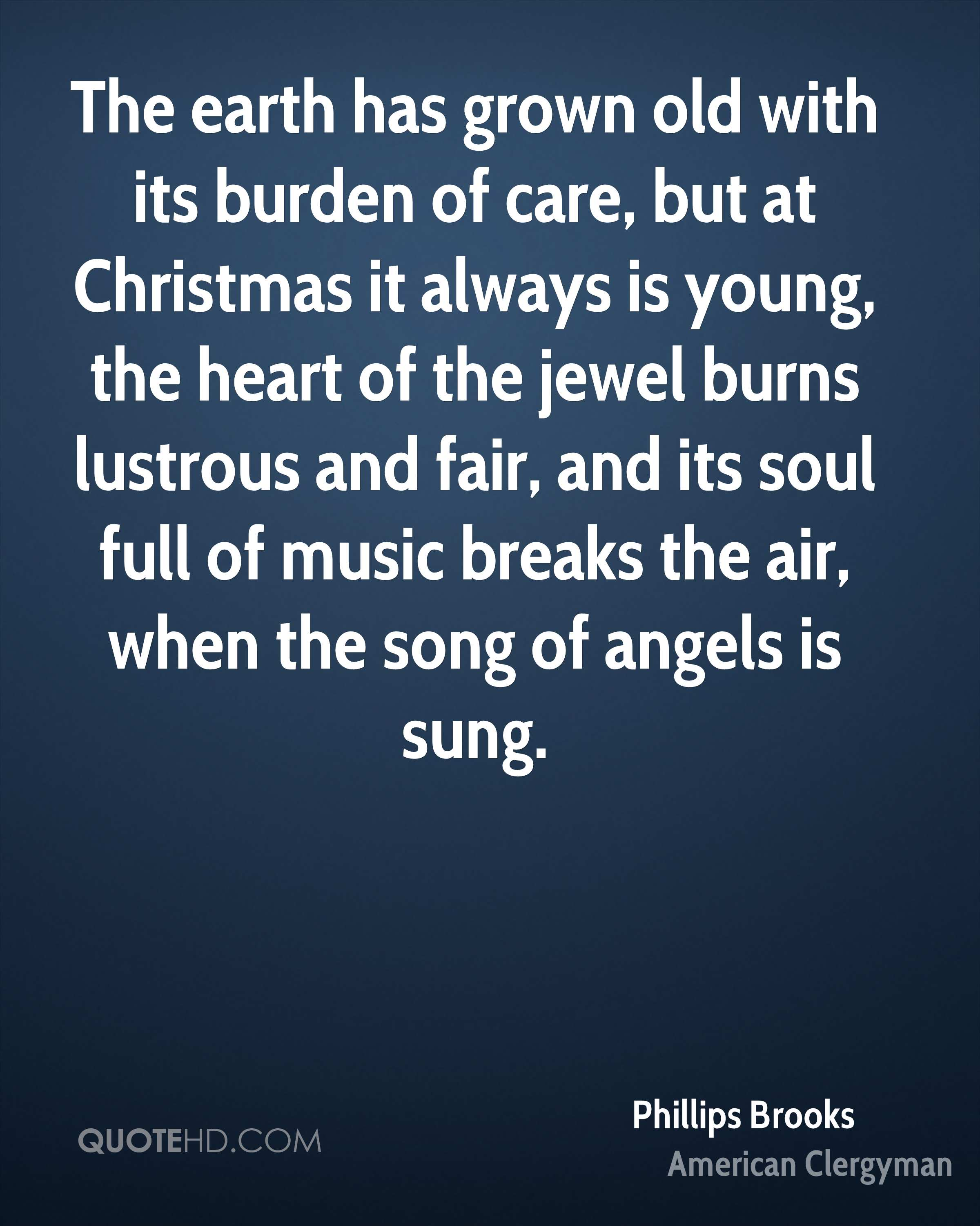 Phillips Brooks Christmas Quotes | QuoteHD