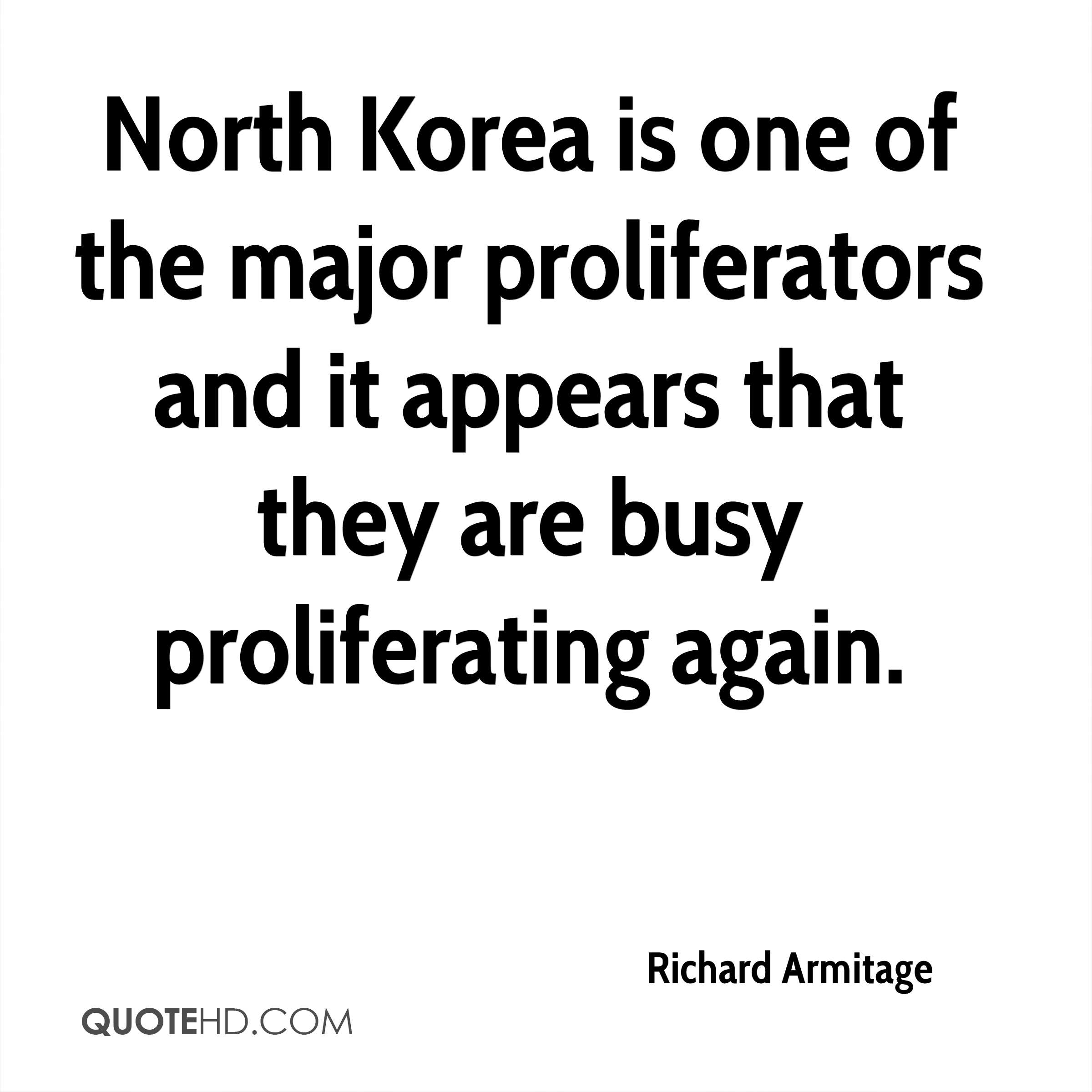 North Korea is one of the major proliferators and it appears that they are busy proliferating again.