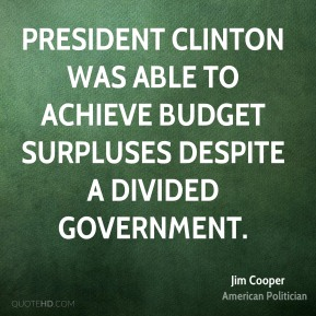President Clinton was able to achieve budget surpluses despite a divided government.