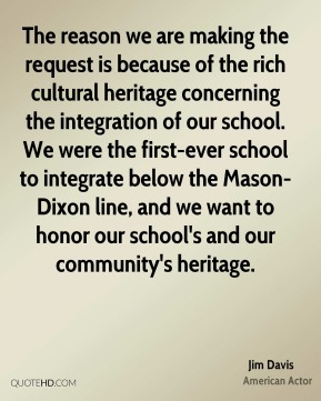 The reason we are making the request is because of the rich cultural heritage concerning the integration of our school. We were the first-ever school to integrate below the Mason-Dixon line, and we want to honor our school's and our community's heritage.