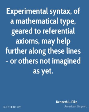 Experimental syntax, of a mathematical type, geared to referential axioms, may help further along these lines - or others not imagined as yet.