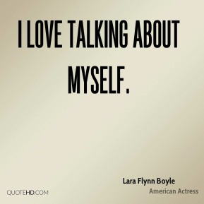 I love talking about myself.
