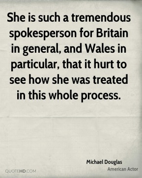 She is such a tremendous spokesperson for Britain in general, and Wales in particular, that it hurt to see how she was treated in this whole process.