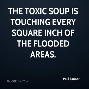 Paul Farmer  - The toxic soup is touching every square inch of the flooded areas.