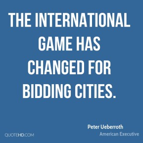 The international game has changed for bidding cities.