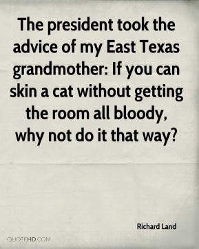 The president took the advice of my East Texas grandmother: If you can skin a cat without getting the room all bloody, why not do it that way?