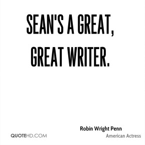 Sean's a great, great writer.