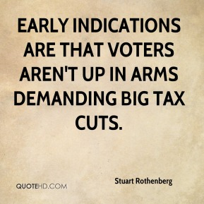 Stuart Rothenberg  - Early indications are that voters aren't up in arms demanding big tax cuts.