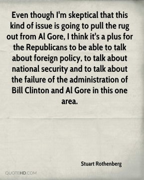 Even though I'm skeptical that this kind of issue is going to pull the rug out from Al Gore, I think it's a plus for the Republicans to be able to talk about foreign policy, to talk about national security and to talk about the failure of the administration of Bill Clinton and Al Gore in this one area.