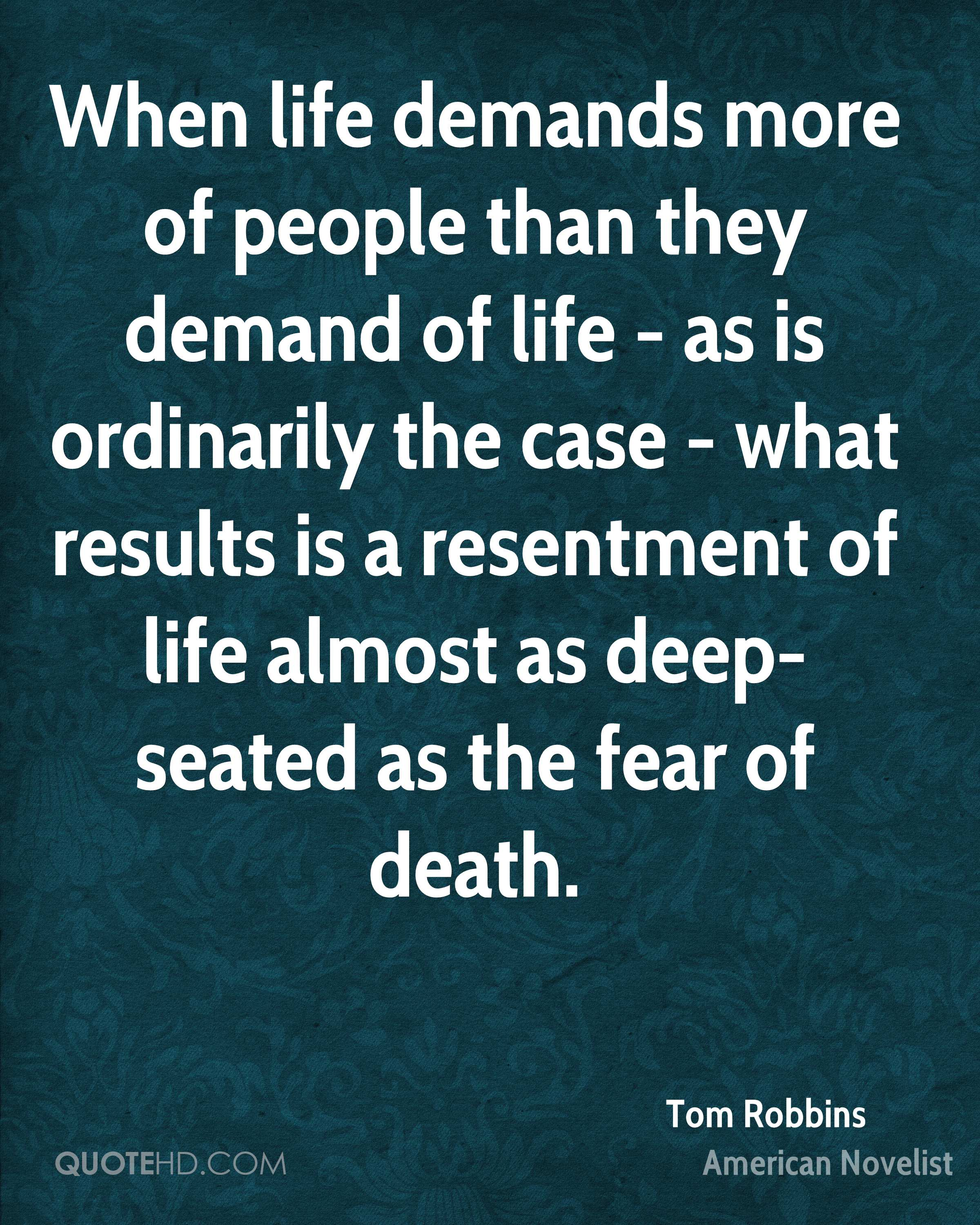 Tom Robbins Death Quotes Quotehd