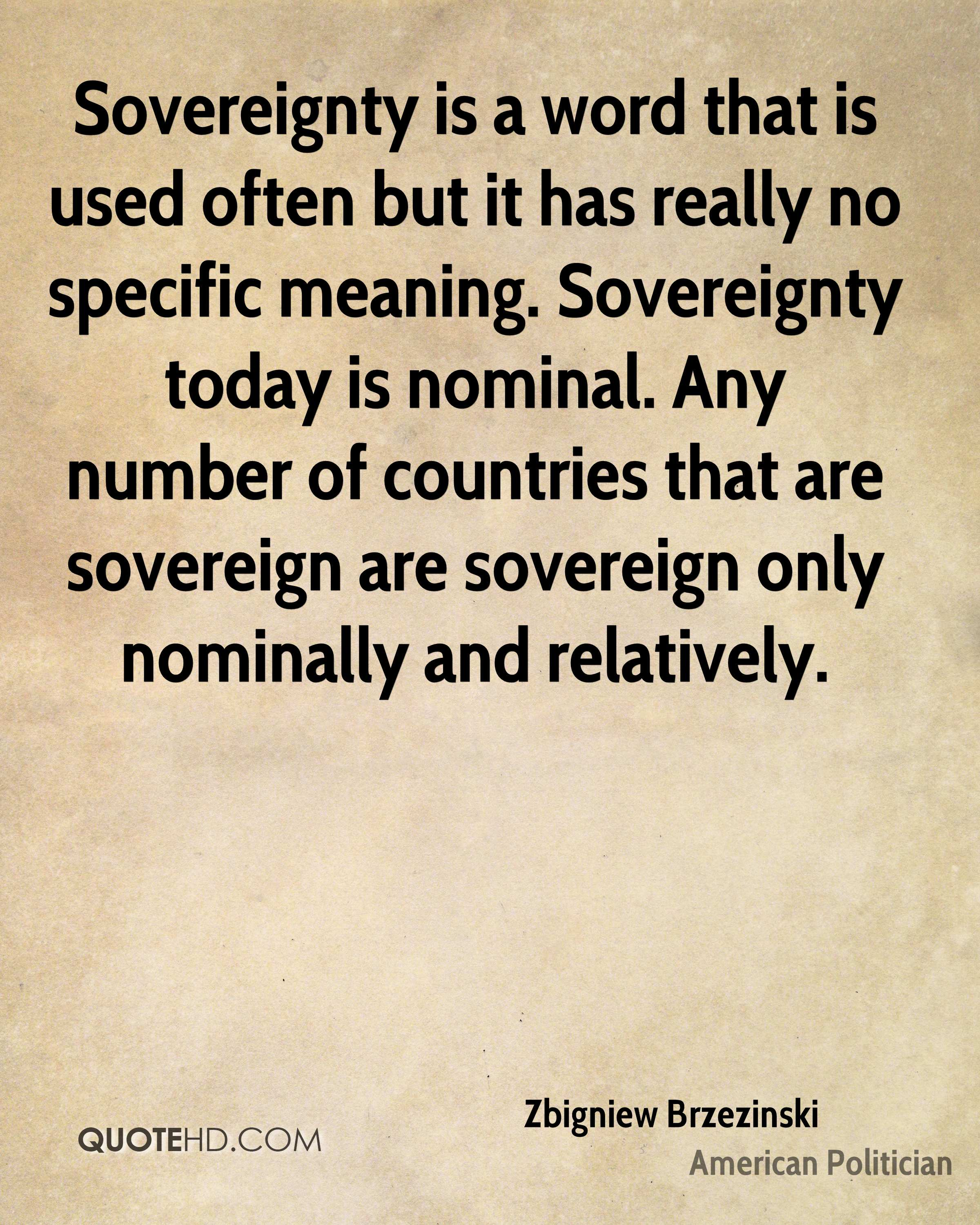 a definition of sovereignty