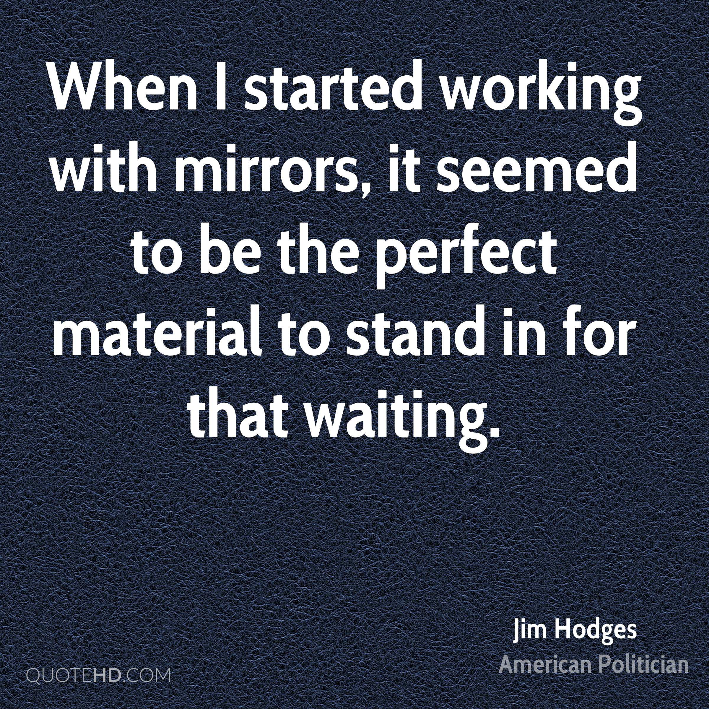 When I started working with mirrors, it seemed to be the perfect material to stand in for that waiting.