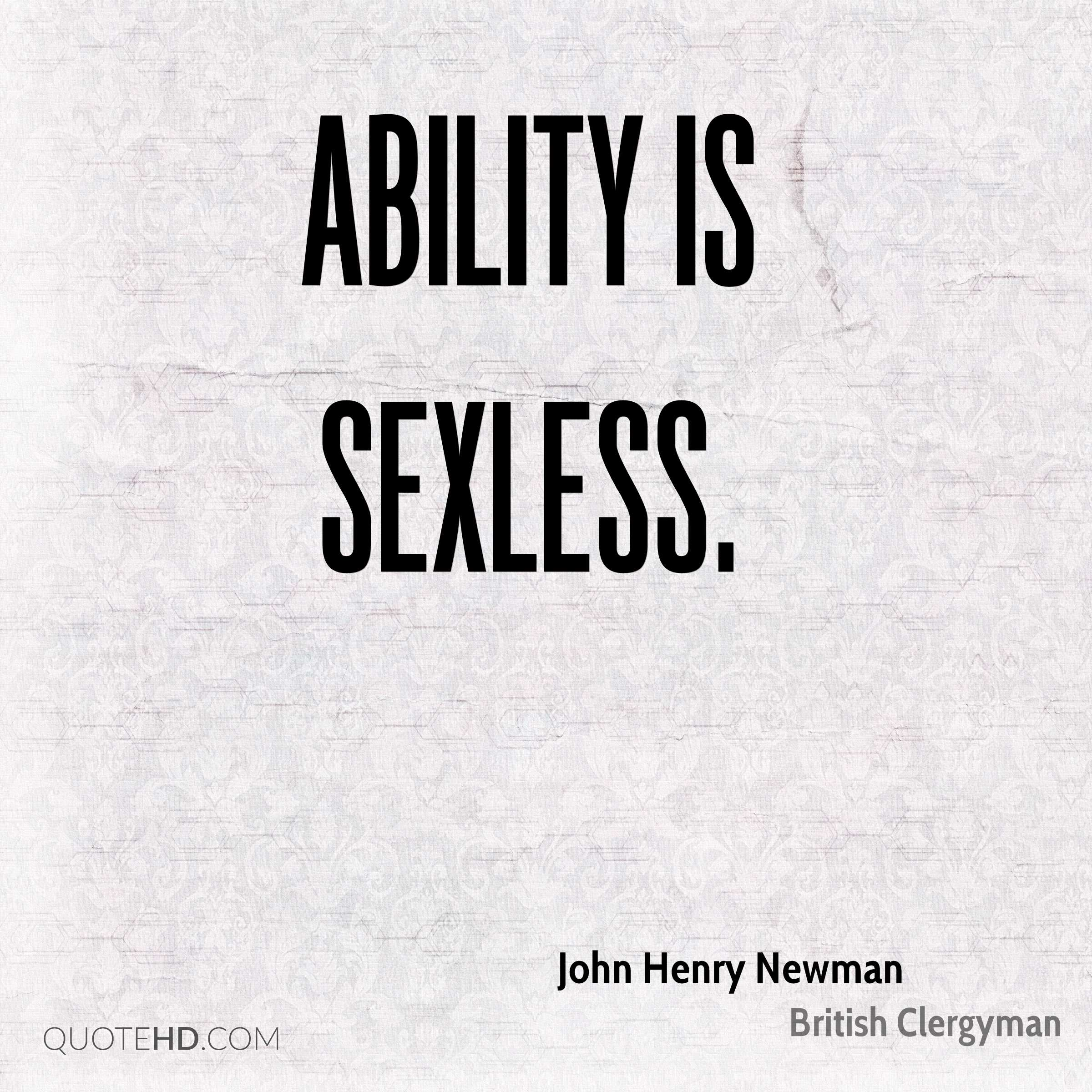 Ability is sexless.