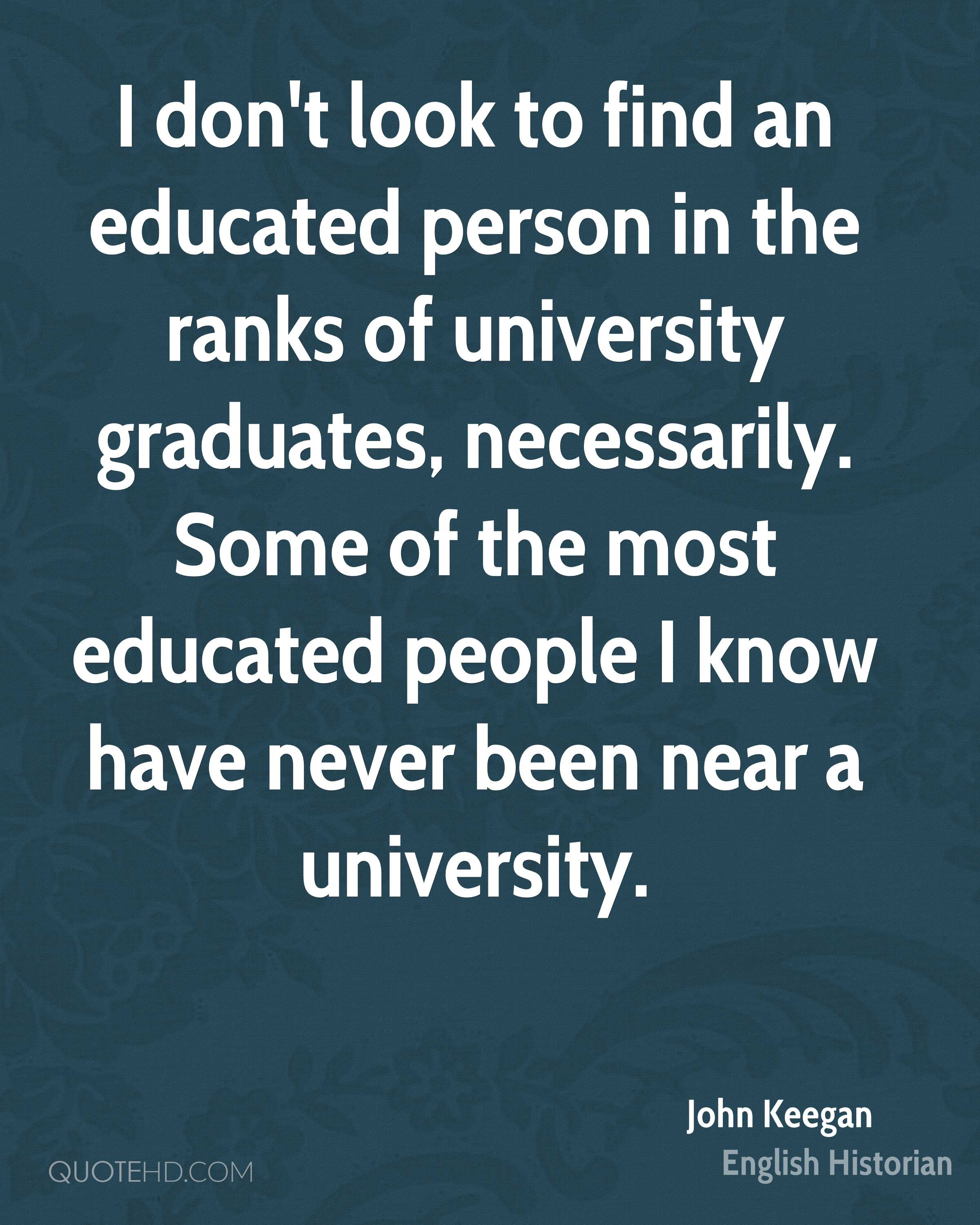 An Educated Person