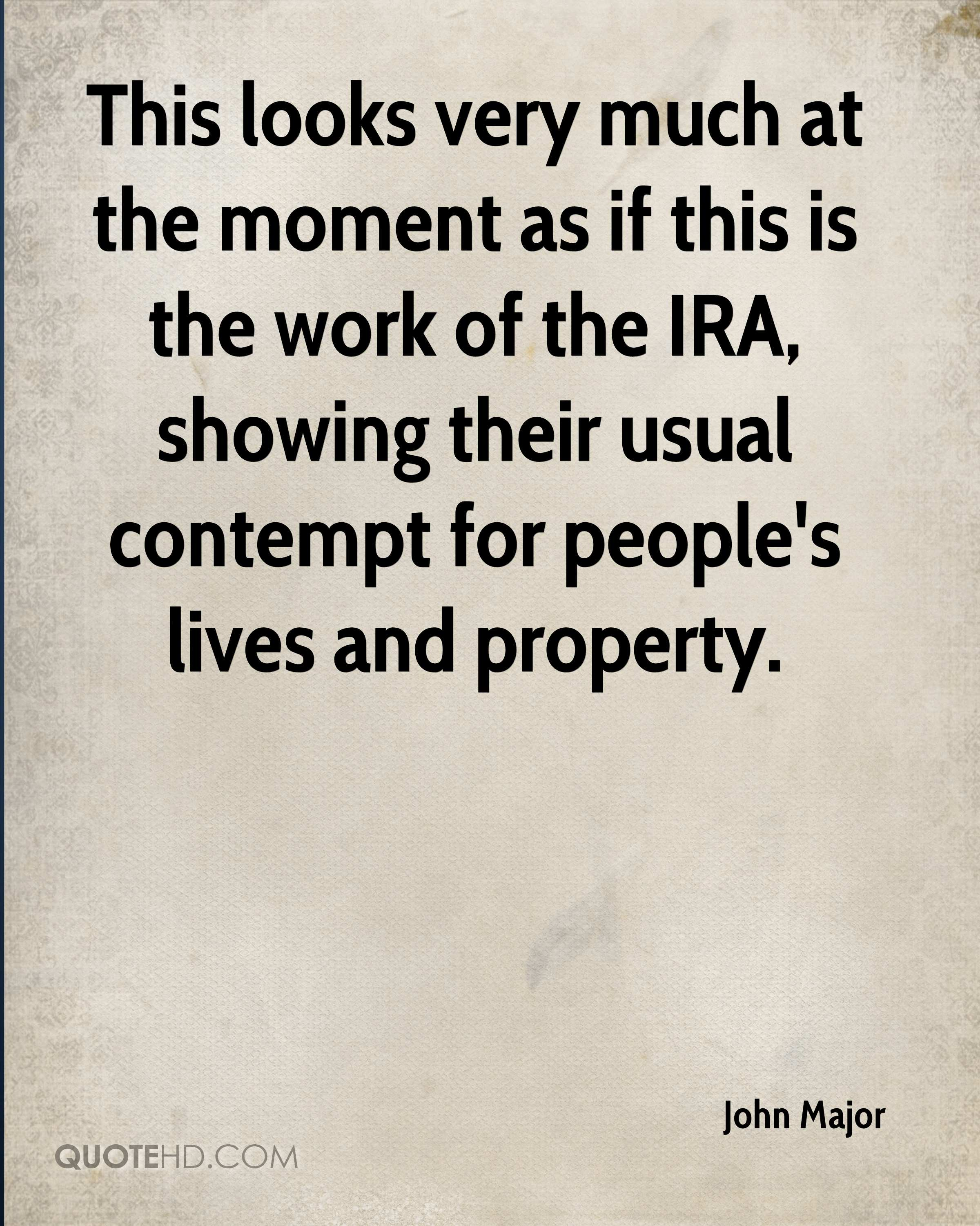 This looks very much at the moment as if this is the work of the IRA, showing their usual contempt for people's lives and property.