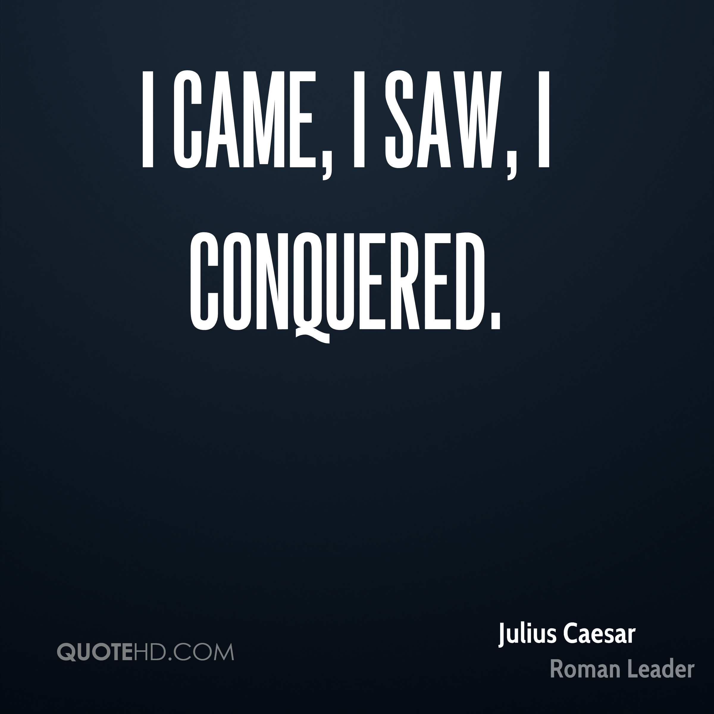 julius caesar leadership Rome's leader, julius caesar, is a force unlike any the city has seen magnetic,  populist, irreverent, he seems bent on absolute power a small band of patriots,.