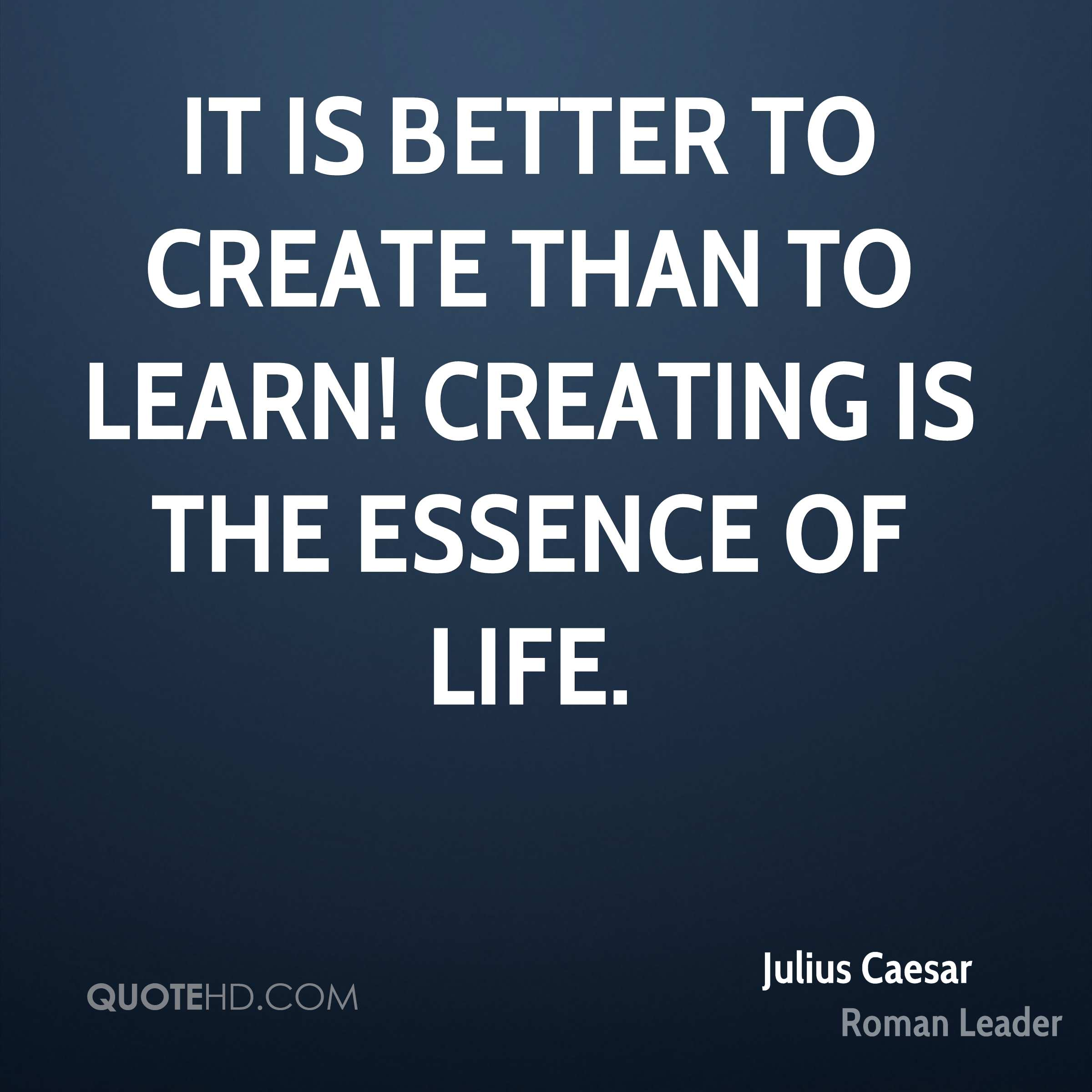 julius ceasar better leader Leadership lessons, short biography and quotes from julius caesar, the roman military leader and statesman who changed the course of.
