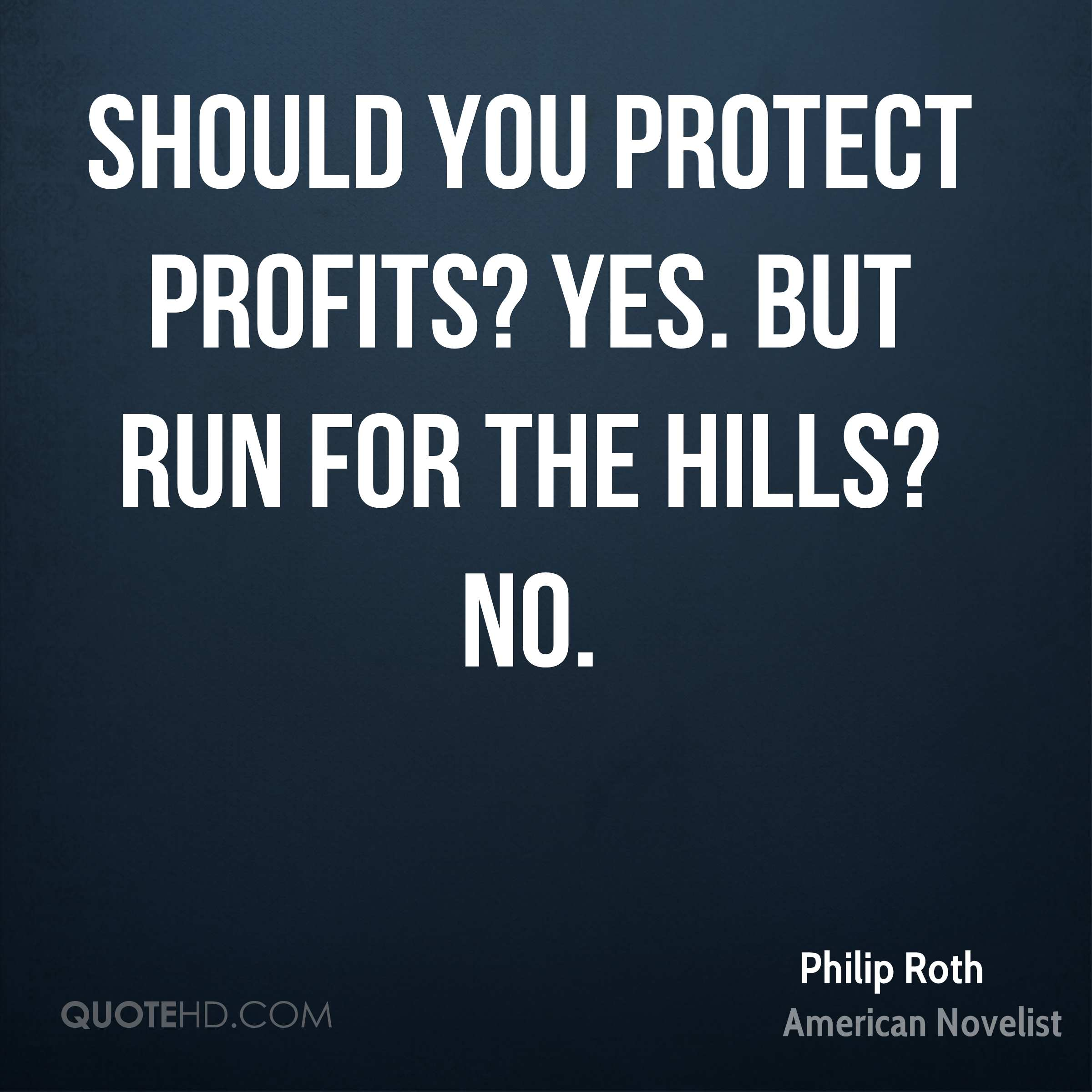 Should you protect profits? Yes. But run for the hills? No.