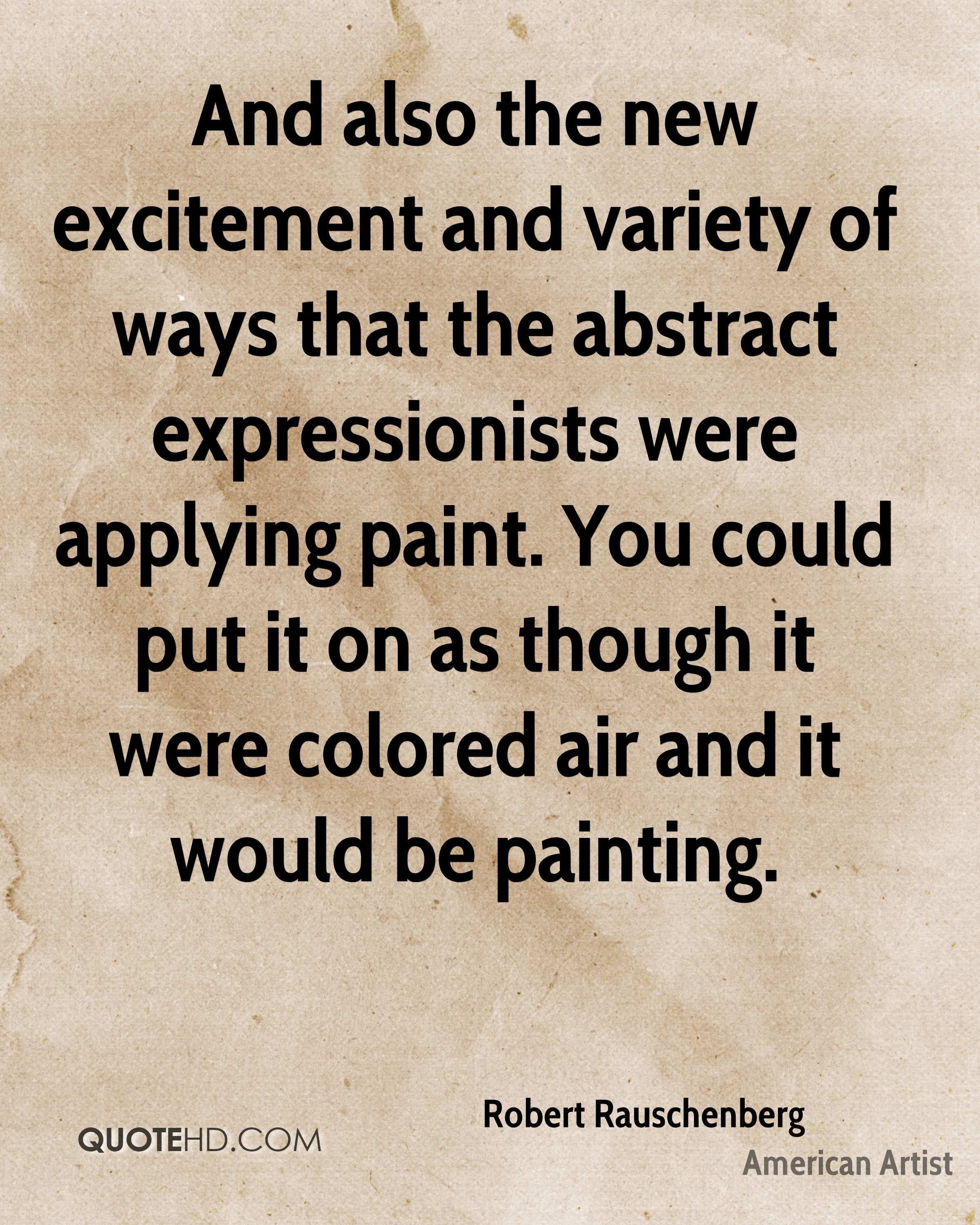 Abstract Expressionism Art Quotes