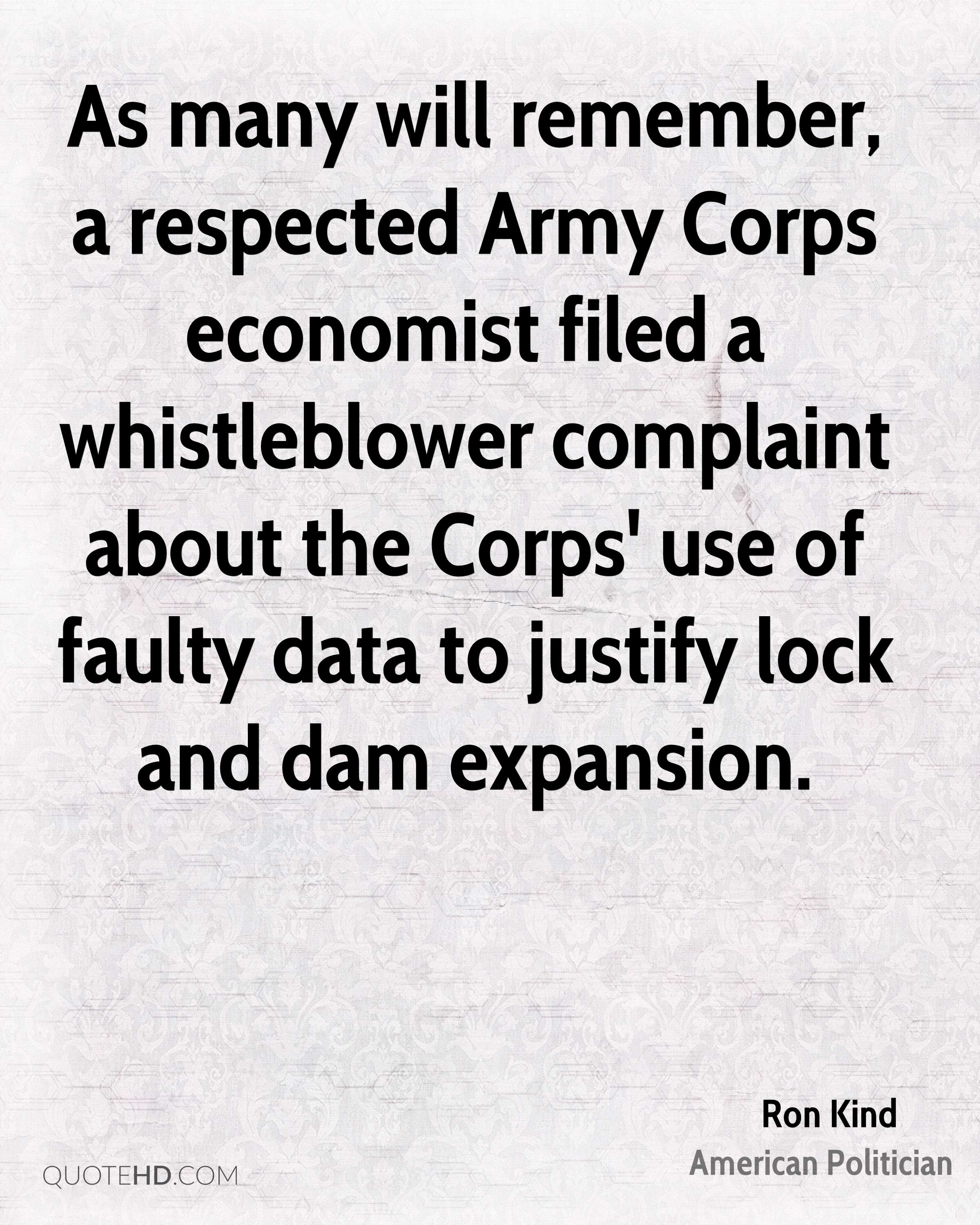 As many will remember, a respected Army Corps economist filed a whistleblower complaint about the Corps' use of faulty data to justify lock and dam expansion.