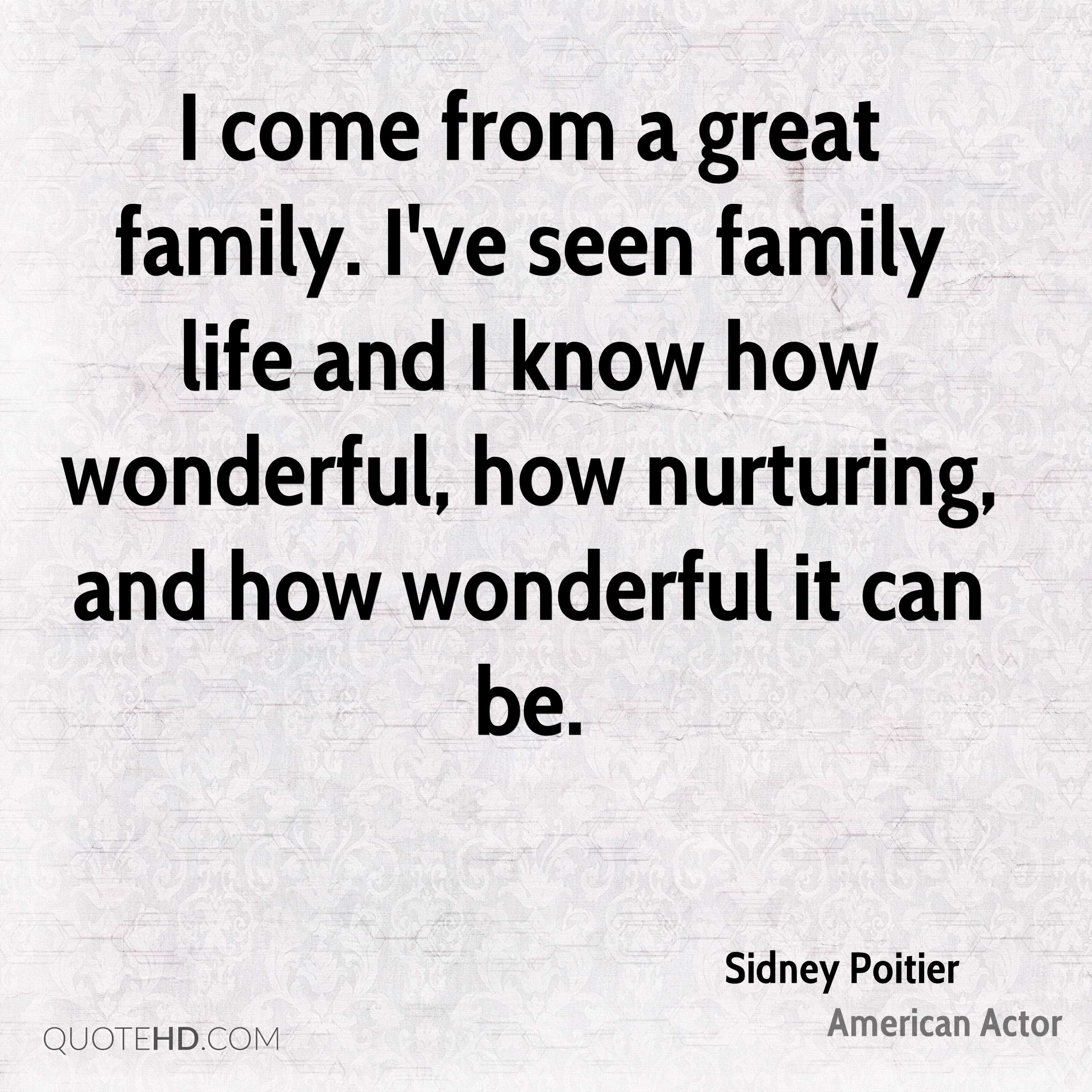 Family Life Quotes Sidney Poitier Family Quotes  Quotehd