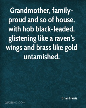 Brian Harris - Grandmother, family-proud and so of house, with hob black-leaded, glistening like a raven's wings and brass like gold untarnished.