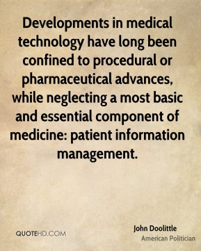 Developments in medical technology have long been confined to procedural or pharmaceutical advances, while neglecting a most basic and essential component of medicine: patient information management.
