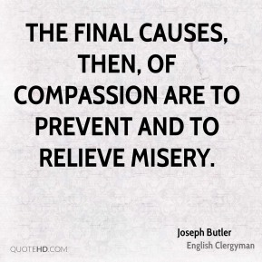 The final causes, then, of compassion are to prevent and to relieve misery.
