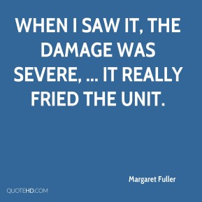 Margaret Fuller  - When I saw it, the damage was severe, ... It really fried the unit.