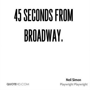 45 Seconds From Broadway.