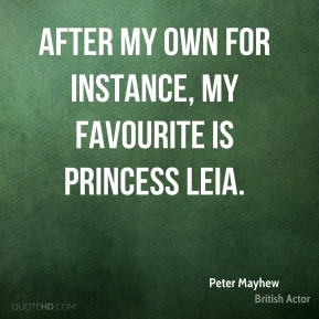 After my own for instance, my favourite is Princess Leia.