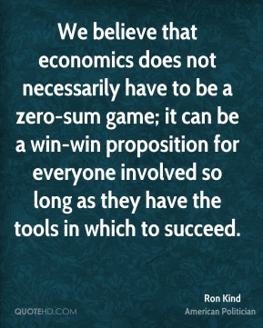 We believe that economics does not necessarily have to be a zero-sum game; it can be a win-win proposition for everyone involved so long as they have the tools in which to succeed.